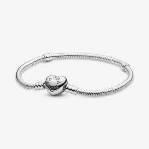 Pandora Heart Clasp Snake Chain bracelet S925